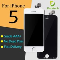 Wholesale iphone touch screen digitizer glass resale online - 1pcs For iphone front glass Grade A LCD Display Touch Digitizer Complete Screen with Frame Full Assembly Replacement Day