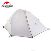 Wholesale ultralight person tent - Wholesale- Naturehike 1 - 2 Man Camping Tent Outdoor 1 -2 Person Ultralight Hiking Camp Tents 1.25kg PU 4000mm