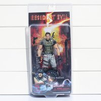 "Wholesale Neca Toys Resident Evil - NECA Resident Evil 5 Chris Redfield PVC Action Figure Collectible Model Toy 7"" 18cm Free shipping"