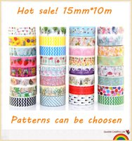 Wholesale Selling Decorative Tape - Wholesale-182 Patterns TOP Best Selling for Decorative Adhesive Paper Tape and flower Washi Tape for scrapbooking 15mm*10m