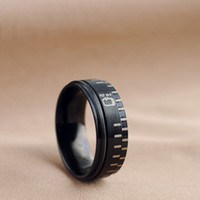 Wholesale Camera Ring For Sale - Wholesale-New 2015 Hot Sale Fashion Stainless Steel Camera Lens Wedding Rings For Men And Women Birthday Party Gift Full Sizes