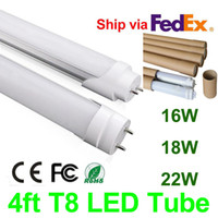 Wholesale 16w Led Bars - T8 LED Tube Light 4ft 16W 18W 22W 1200mm SMD2835 Replace 1.2m Fluorescent Tube Shatterproof Warm Natural Cool White Indoor Light