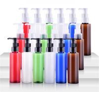 ingrosso olii pompa in plastica-L'olio di trucco di scarico della bottiglia variopinta della bottiglia della spalla piana di plastica da 100 ml è bottiglie speciali Bottiglia cosmetica di imballaggio
