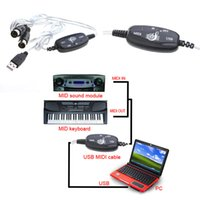 Wholesale Midi Cables Converters - Brand New USB MIDI Cable Converter PC to Music Keyboard Adapter C929