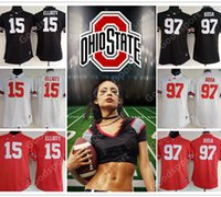 Wholesale hottest women state - Women OHIO STATE Buckeyes NCAA College Lady Stitched Limited 15 Ezekiel Elliott 97 Joey Bosa Jerseys Sport Shirt Jerseys HOT Sale GIFT