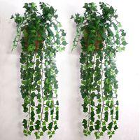 ingrosso artificial plants ivy-Foglia di edera artificiale Ghirlanda Piante Vine Fake Foliage Flowers Home decor 7.5 feet