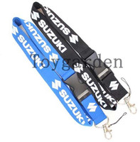Wholesale Motorcycle Wholesale Lanyard - New SUZUKI Motorcycle logo Lanyard   ID Badge  Mobile phone camera Strap Free Shipping NF-41