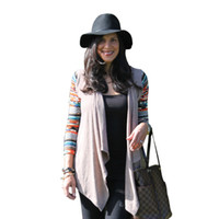 Wholesale Wholesale Aztec - Wholesale-2015 New Aztec sleeve women Cardigan Female Long Asymmetrical Knitted Sweater casual Cardigans Sweaters Air conditioning Shirts