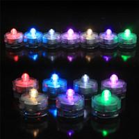 tee sub großhandel-Tauchlicht Kerzenlicht 10pcs Tauchlicht Wasserdicht Hochzeit Unterwasserbatterie Sub LED Teelichter dekorative LED Kerzenlicht