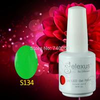 Wholesale Soak Off Gelexus - Wholesale-12pcs lot Gelexus Soak Off UV Nail Gel Polish Total 343 Fashion Colors For Salon Nail Gel
