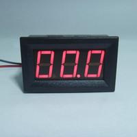 ampèremètre ampèremètre achat en gros de-20 PCS / LOT Rouge LED Affichage DC4.5-28V Ampèremètre Panneau Indicateur Compteur Ampèremètre Numérique DC 0-100A Livraison Gratuite