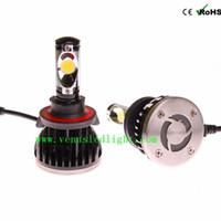 Wholesale Halogen H4 Kit - H7 H8 H9 H11 H4 9004 9007 H13 Headlight Kit Auto Car Vehicle Headlight Super White 5000K 60W 5200LM Replace Halogen Bulb Lamp
