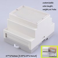 Wholesale Din Rail Housing - [Two Style ] Din rail plastic electronics project box abs plastic circuit housing junction box custom diy enclosure 87*72*60mm