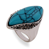 Wholesale ring silver turquoise men - Fine jewelry big rings for women and men 2015 New promotions high quality rings fashion rings rock A Birthday Present Lady Turquoise Jewelry