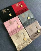 grandes écharpes épaisses achat en gros de-Zhu 100% Soie Pashmina Laine Coton Coton Cachemire Grande Taille Foulards Hommes Pashmina Infinity Foulard Femmes Épais Châles 180 * 70 cm