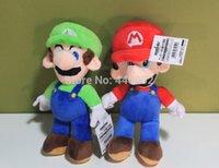 "Wholesale Mario Stuffed - Super Mario Bros Stand MARIO & LUIGI Plush Doll Stuffed Toy 8"" New Fashion cool toys 10pcs lot"