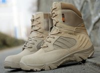 Wholesale Sport Pony - Delta Tactical Military Boots Men's SWAT Hikng Army Training Combat Boot Brand Leather Waterproof Sport