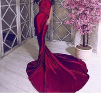 Sexy Backless Shiny Satin Deep V Шея Bodycon Русалка Свадебное платье Halter Wine Red Green Floor Length Evening Maxi Dress