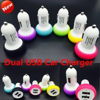 Mini Tire Dual USB Car Charger Adapter Bullet Duplo USB 2 portas para iphone 6 6s Samsung S6 Edge S5 HTC Blackberry