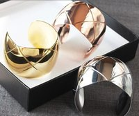 Wholesale Runway Boutique - &#67hanel Foreign trade boutique Bracelet titanium runway wide version cuff bangle bracelet