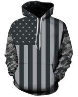 Wholesale 3d linens - Free Shipping hoodies Size M-3XL New Fall Fashion Casual Hoodies US Flag 3D Digital Printing Slim Camouflage Hooded Sweatshirt Sweater