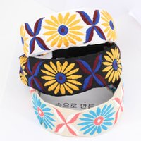 Bohemia Headbands Donne Sport Yoga Fasce Lady Washing Face Stretch ampio capo avvolgere accessori floreali