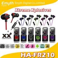 yüksek kaliteli mikrofonlar toptan satış-HA FR201 Xtreme-Xplosiv Yüksek Kalite Stereo Kulaklık Casque Stereo Uzaktan Mikrofon iPhone Samsung HTC için Perakende paketi ile