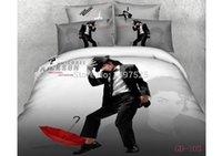 Wholesale Michael Jackson Pillowcase - Wholesale-Cheap Michael Jackson Pattern 3D Bedding Sets,Full Queen King Size 4Pcs of Duvet Cover Bed Sheet Pillowcase Free Shipping,,