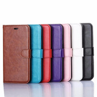 Wholesale Leather Case For Pocket - Wallet PU Leather Case Cover Pouch with Card Slot For iPhone 8 X 7 7Plus Samsung S8 Plus S6 edge iphone6 plus