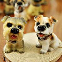 miniatur sammlerstück großhandel-Patio 6pcs Miniatur Fee Harz Hunde suchen Sie liebevoll Garten Hof Home Desktop Dekoration Sammler Figur Statuen