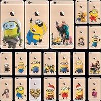Wholesale Despicable Case Iphone Silicon - Wholesale-Silicon Single-Eye Despicable Me Yellow Minion One Piece Cover Cases For Apple iPhone 6 4.7'' Case For iPhone6 Phone Shell