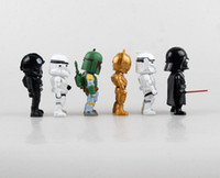 Wholesale Black Star Action Figures - 6PCS LOT Star Wars Action Figure Black Knight Darth Vader Stormtrooper Action Figure Star Wars Figures Kids Toys Brinquedos