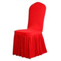 capas de cadeira de spandex universal venda por atacado-Universal Spandex Cadeira Cobre China Para Casamentos Decoração Cadeira Do Partido Cobre Cadeira De Jantar Cobre Casa Venda Quente