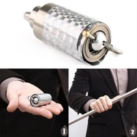 Lumières Fantastiques Pas Cher-Vente en gros-nouveau fantastique Durable Silent Light Weight Trucs magiques Cane Metal Silver Close Up Illusion To Wand Party Gift