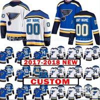 Wholesale Paul Stastny - Custom 2018 New St. Louis Blues 20 Alexander Steen 15 Robby Fabbri Jersey 26 Paul Stastny 40 Carter Hutton 34 Jake Allen Hockey Jerseys
