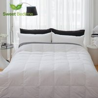 Wholesale Duvet Duck - Wholesale- hotel twin queen king size white duck down feather comforters insert summer blankets thin down duvet air condition quilts inner