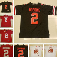 Wholesale Blackout Football - Mens Ohio State Buckeyes #2 J.K. Dobbins Jersey Red Blackout Black Stitched 26 Tim Yoder White College Football Limited Jerseys S-3XL