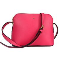 Wholesale Designer Small Leather Bag - Wholesale-Vintage Women Handbags Fashion Shell Bags Small Leather Bag Casual Women's Cross-body Shoulder Bags Designer Women Messenger