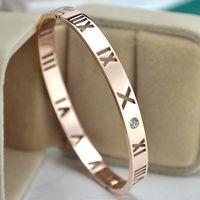 ingrosso braccialetto roma-Braccialetti superiori del polsino del polsino per le donne Braccialetto dei braccialetti di numero di Roma dell'oro e dell'argento per la vendita Braccialetti all'ingrosso dei braccialetti del commercio all'ingrosso dei monili d'argento