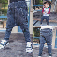 Wholesale England Clothing Styles - Kids Soiled Jeans For 2015 Autumn Hot Sale Fashion Boys Casual Pants England Style Children Clothing Fit 1-5 Age 80-110 6Pcs lot