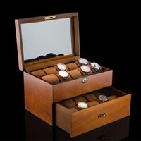 A oferta especial é feita em madeira 20 Table Top Luxury Watch Box Collection Box Display Storage Box