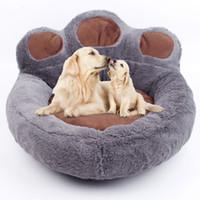 tapis gris achat en gros de-Lits pour chien créatif doux chien chaud chenil chien couverture d'hiver lit pour animal de compagnie tapis de couchage chaud produits pour animaux de compagnie rose café gris beige