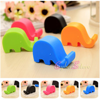 Wholesale Elephant Phone Stand - Universal Cartoon Elephant Dolphin Cat Stand Compact Holder Mounts Chair Seat Cradle Stand For iPhone Samsung Mobile Cell phone Tablet