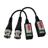 Wholesale camera transceiver for sale - BNC CAT5 Video Balun Transceiver Cable for Camera CCTV Passive twisted pair transmission surveillance camera accessories equp with Package