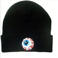 Wholesale Mishka Men Beanie - Wholesale-Free shipping MISHKA hat big eyes set of head fashion knitted cap hip-hop cap can be adjusted