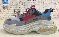 Wholesale Men S Lace - 2017 running shoes men women 17fw balenciaga triple-S Sneaker size EUR 36-45