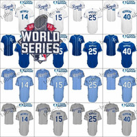 Wholesale Wholesale S Baseball Jersey - City Royals 40 Kelvin Herrera Customized 2015 Baseball Cool Base Jersey,Best quality,Authentic Jerseys,Embroidery Logo,Size M--3XL,Mix Order