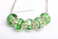 Wholesale Pandora Blue Green Murano - New Hot Loose Beads Sale Green Murano glass Beads charms for Pandora bracelet Wholesale gb0051 free shipping Z