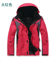 Wholesale Double Layer Ski Jacket - Fall-2015 new Double layer 2in1 Warm men's outdoor ski jackets waterproof men's outdoor jackets stylish outdoor men's ski suit