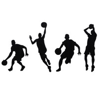 Wholesale Best Paper Stickers - Brand New Basketball Player Removable Wall Art Stickers Wall Decor Vinyl Decal Wall Stickers Removable Best Promotion!